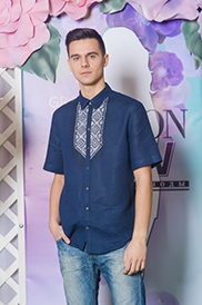 Сорочка мужская с вышивкой модель 17-15