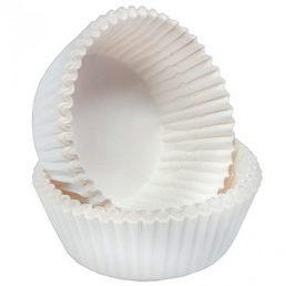 Капсула бумажная круглая белая д=70мм*25мм
