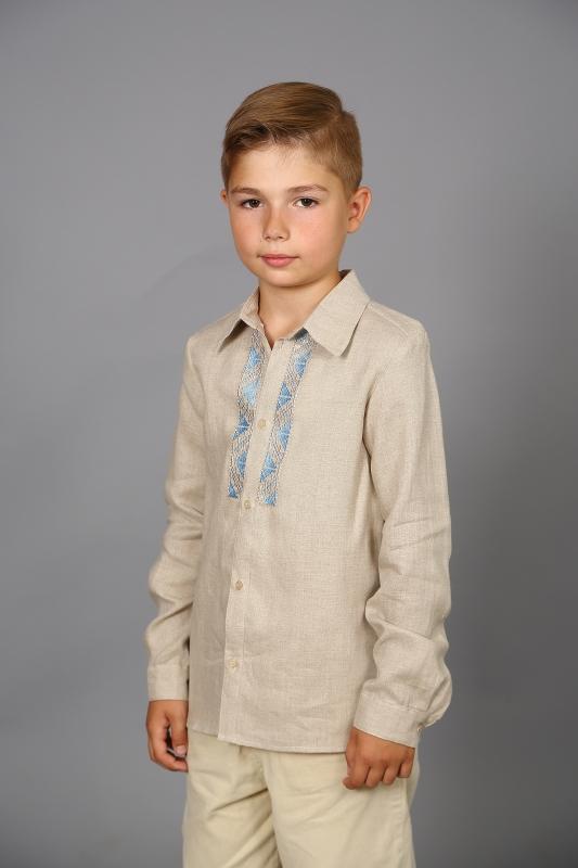 Сорочка для мальчика с вышивкой