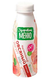 Растительный йогурт овсяный ЗДОРОВОЕ МЕНЮ с персиком