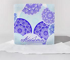 Салфетки бумажные сервировочные белые по 100шт. 230х230 арт.11С7705 - ОАО Альбертин (Беларусь)