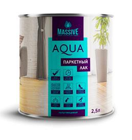 Лак Паркетный Aqua MASSIVE