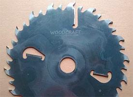 Пила дисковая с твердым сплавом 350*50*4,0/2,5/(18z+18)+4 WoodCraft