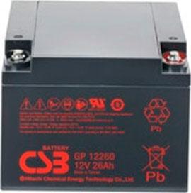 Аккумулятор для ИБП CSB GP12260 (12В/26 А·ч)