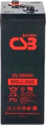 Аккумулятор для ИБП CSB MSJ260 (2В/260 А·ч)
