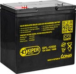 Аккумулятор для ИБП Kiper GPL-12550 (12В/55 А·ч)