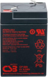 Аккумулятор для ИБП CSB GP645 (6В/4.5 А·ч)