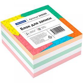 Блок для записи OfficeSpace, 8*8*4см, цветной