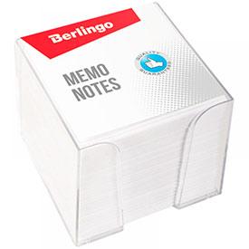 Блок для записи Berlingo Standard, 9*9*9см, пластиковый бокс, белый
