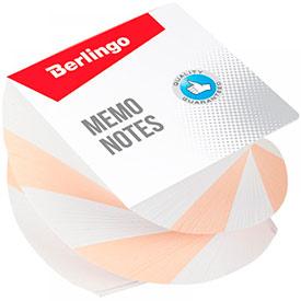Блок для записи на склейке Berlingo 'Classic', 8*8*5см, витой, цветной