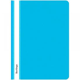 Папка-скоросшиватель пластиковый Berlingo синяя с прозр. верхом