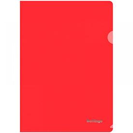 Папка-уголок Berlingo, А4, 180мкм, прозрачная красная