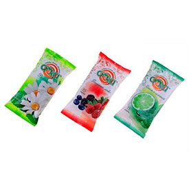 Влажные освежающие салфетки Amra с ароматом, 1*15 шт