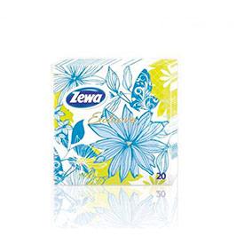 Салфетки бумажные Zewa (Turquoise Flower) 33*33 см, 1*20 шт
