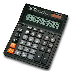 Калькулятор настольный Citizen SDC 444S 12 разрядов, двойное питание, Original