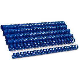 Пластиковый элемент для переплета 25 мм, синий 50 шт