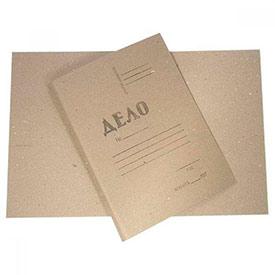 Дело обложка А4 картон серый