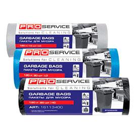 Пакет для мусора HD 70*105 черный OPTIMUM 120 л, 10 шт PRO Service