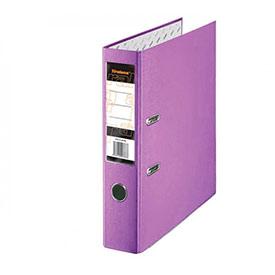 Папка-регистратор Tiralana Flax Vinil, 75 (+/-5) мм, фиолетовая с металлическим уголком