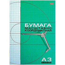 Бумага масштабно-координатная А3 8 л., на скрепке