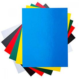Заготовки обложек для переплета картонные голубые А4 глянец, 100 шт, O.Exclusive