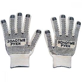 Перчатки трикотажные модель ПРОФИ с ПВХ покрытием Точка из 5-ти нитей