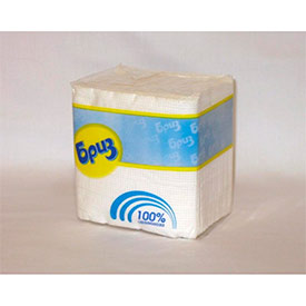 Салфетки бумажные Бриз белые, 100 шт