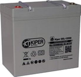 Аккумулятор для ИБП Kiper GEL-12550 (12В/55 А·ч)