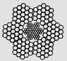 Канат двойной свивки типа ЛК–0 конструкции 6х7(1+6)+1х7(1+6) ГОСТ 3066–80
