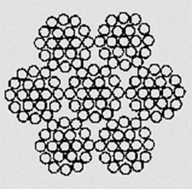 Канат двойной свивки типа ТК конструкции 6х19(1+6+12)+1х19(1+6+12) ГОСТ 3067–88