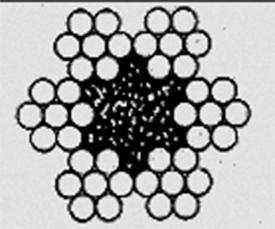 Канат двойной свивки типа ЛК–0 конструкции 6х7(1+6)+1о.с ГОСТ 3069–80