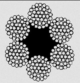 Канат стальной двойной свивки типа ТК конструкции 6x37(1+6+12+18)+1 о.с. ГОСТ -3071-88