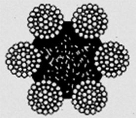 Канат двойной свивки типа ТЛК–О конструкции 6х37(1+6+15+15)+1о.с ГОСТ 3079–80