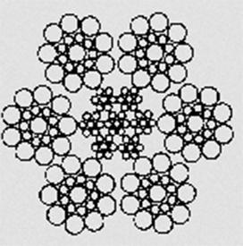 Канат двойной свивки типа ЛК–0 конструкции 6х19(1+9+9)+7х7(1+6) ГОСТ 3081–80