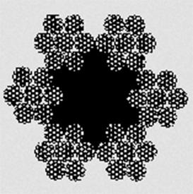 Канат тройной свивки типа ЛК–Р конструкции 6х7х19(1+6+6/6)+1о.с ГОСТ 3089–80