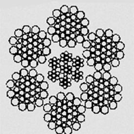 Канат стальной конструкционный 6x26(1+5+5/5+10)+7x7(1+6) ТУ 14–176–121–93