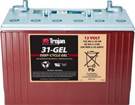 Аккумуляторная батарея тяговая гелевая Trojan 31-GEL 12V/102Ah