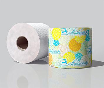 Бумага туалетная 50 м с гильзой