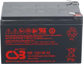Аккумулятор для ИБП CSB HR1251W F2 (12В/12 А·ч)