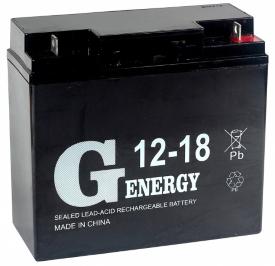 Аккумулятор для ИБП G-Energy 12-18 (12В/18 А·ч)
