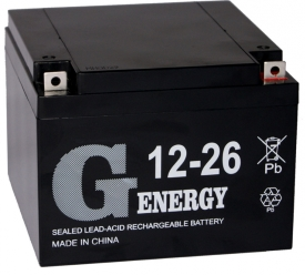 Аккумулятор для ИБП G-Energy 12-26 (12В/26 А·ч)