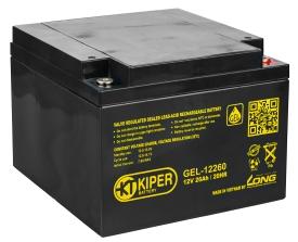 Аккумулятор для ИБП Kiper GEL-12260 (12В/26 А·ч)