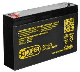Аккумулятор для ИБП Kiper GP-672 F1 (6В/7.2 А·ч)