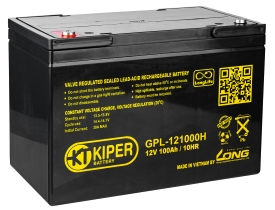 Аккумулятор для ИБП Kiper GPL-121000H (12В/100 А·ч)