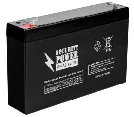 Аккумулятор для ИБП Security Power SP 6-7.2 F1 (6В/7.2 А·ч)