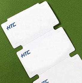 Картонные ярлыки (ценники) с нанесением цвета (логотипа)
