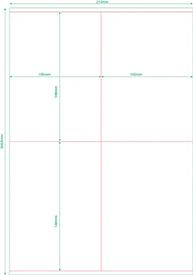 Этикетка самоклеющаяся в листах А4 105х148 мм