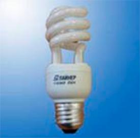 Лампа люминесцентная КЛЭВ 11Вт 220В Е27 спир. 4100К mini