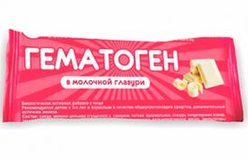 Гематоген в молочной глазури