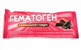 Гематоген в шоколадной глазури